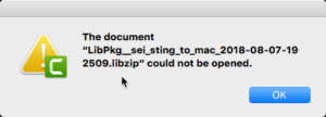 Mac Error Could Not Import libzip